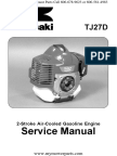 Tj27d Tj27 Kawasaki Service Repair Manual 99924 2064 01
