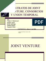Contratos de Joint Venture, Consorcios y Union