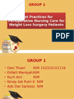 Best Practices for Perioperative Nursing Care for Weight