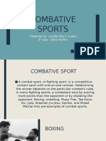 Combative Sports
