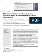 Effectiveness of Direct vs Indirect Technique Myofascial Release in the Management of Tensiontype Headache