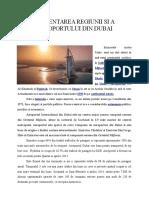 Prezentarea Regiunii Si a Aeroportului Din Dubai
