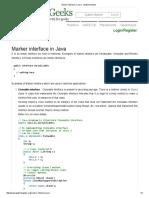 Marker Interface in Java - GeeksforGeeks