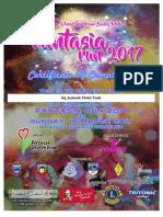 Fantasia Run 2017 Certificate
