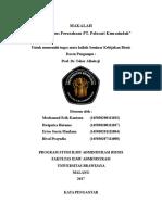 MAKALAH -- Analisis Kasus Perusahaan PT. Polosari Kemasindah