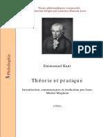 Kant Immanuel-Théorie Et Pratique