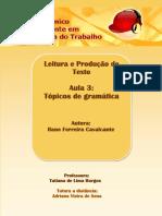 Tópicos de Gramática
