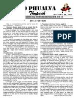 Zo Phualva Thupuak - Volume 01, Issue 17