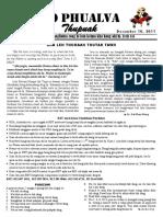 Zo Phualva Thupuak - Volume 01, Issue 18