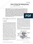 Numerical Analysis of Friction Stir Welding Process