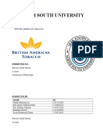 British American Tobacco Report (Editted)