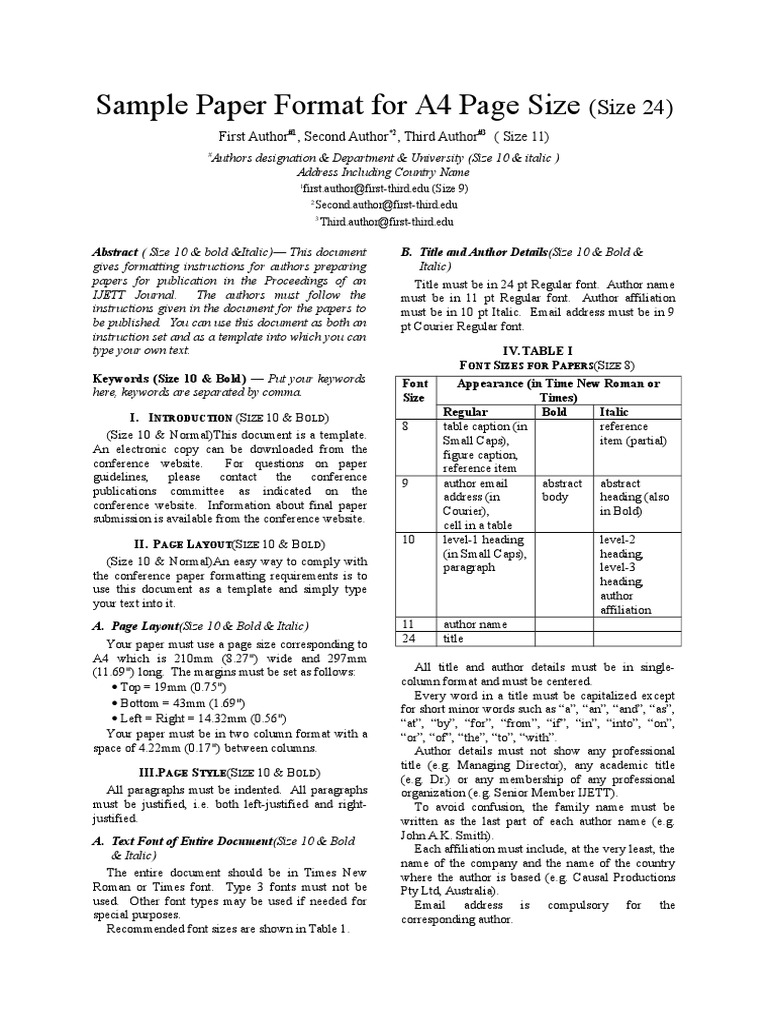 ACCE Conference Paper-template | Typefaces | Paragraph