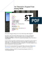 Structured Text Tutorial to Expand Your PLC Programming Skills