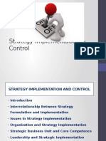 Strategy Implementation & Control
