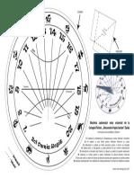 """Macheta cadranului solar de la Colegiul Tehnic """"Alesandru Papiu Ilarian"""" Zalău"""