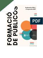 Informe Formación de Públicos