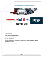 Working Capital Management of Maruti Suzuki India Ltd Minor Project