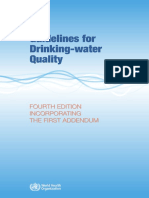 Guidelines for Drinking Water Quality 4th Edition