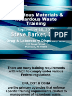Hazardous Waste DOT Training