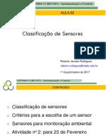 02 Classes de Sensores 2017 1