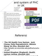 History and System of PHC in UK