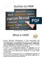Introduction to HRM Final