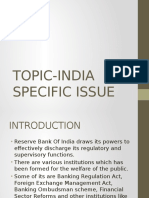 India Specific Issues