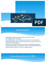 Globalization and its comparison with Indian sectors