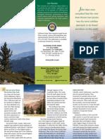 Mount San Jacinto State Park Brochure
