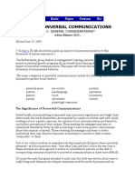 About Nonverbal Communications