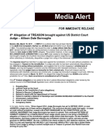4th Allegation of TREASON brought against US District Court Judge – Allison Dale Burroughs