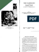 Tirthaji S.B.K., Agarwala v.S.-vedic Mathematics or Sixteen Simple Mathematical Formulae From the Vedas-Orient Book Distributors 1981