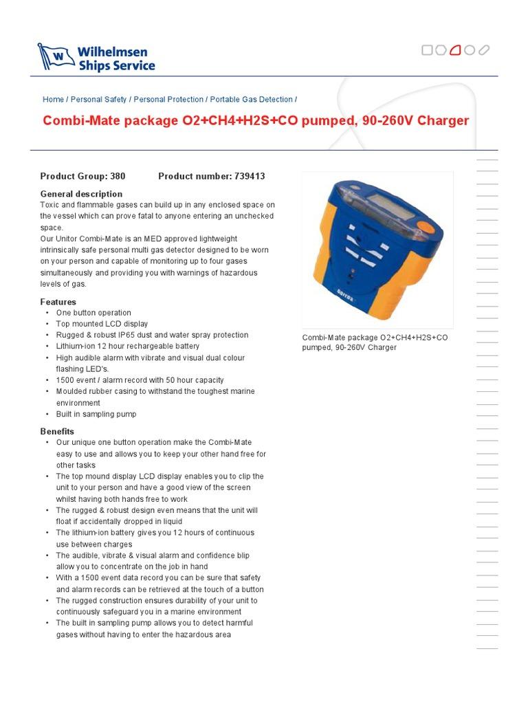 Unitor Combi Mate | Batería (Electricidad) | Tecnología