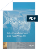Performance Based Communications and Surveillance - ICAO SARPS and Guidance