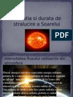 Radiatia Si Durata de Stralucire a Soarelui