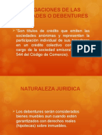 OBLIGACIONES DE LAS SOCIEDADES O DEBENTURES.ppt