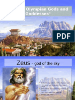 The 12 Olympian Gods and Goddesses