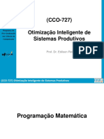 3Otimização Inteligente de Sistemas Produtivos (Programação Matemática)