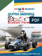 Supra Saeindia 2017 Rule Book