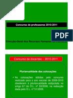 Apresentacao Concurso 2010-2011