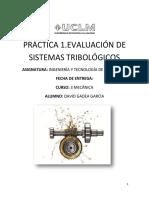 Practica 1.Evaluacion de Sistemas Tribologicos
