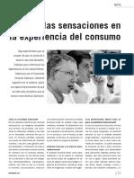 Medir Las Sensaciones en La Experiencia de Consumo por Eduardo Sebriano