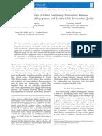 An Integrative View of School Functioning Transactions Between
