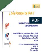 Soy Portador de IPv6 LACNIC21 Azael