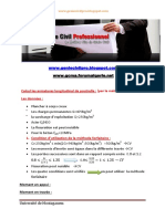 1-Calcul Les Armatures Longitudinal d'Une Poutrelle (Par La Méthode Forfaitaire) by Génie Civil Professionnel