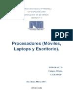 Procesadores (Móviles, Laptops y Escritorio).