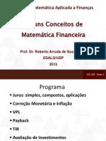 Matemática Aplicada a Finanças