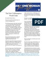 The New Contraceptive World Order