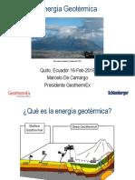 Ecuador Geothermal Presentation