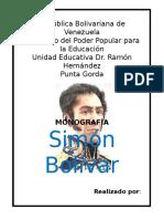 Monografia de Simón Bolívar